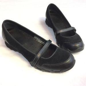 Skechers Leather Mary Jane Walking Shoe